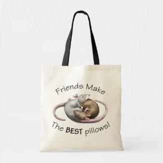Friends make the BEST pillows! - rat bag