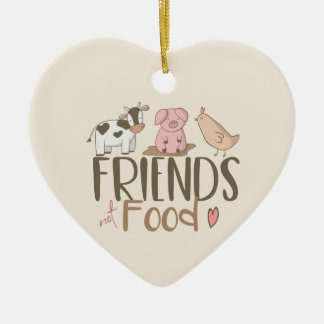 Friends Not Food 2 Christmas Ornament