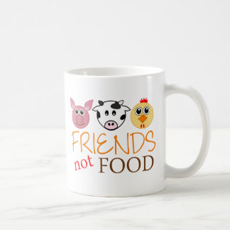 Friends Not Food Basic White Mug