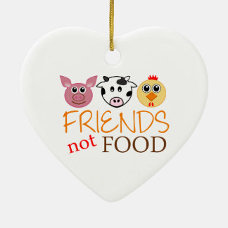 Friends Not Food Ceramic Heart Decoration