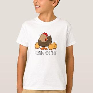 Friends Not Food Chicken vegan kids t-shirt