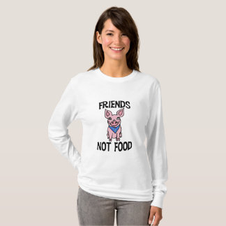 Friends Not Food Cute Pig Shirt
