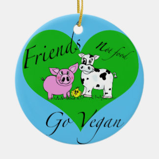 Friends not food Vegan Ornament