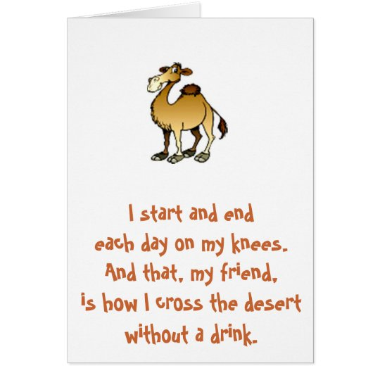 Friends of Bill W.: Birthday Camel note card