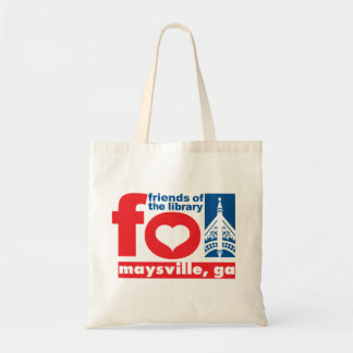 Friends of Maysville Public Library apron Budget Tote Bag