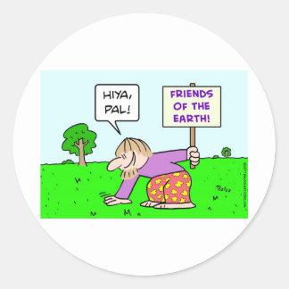 friends of the earth hiya pal pat sticker