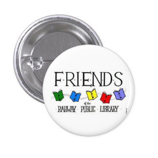Friends of the Rahway Public Library Button