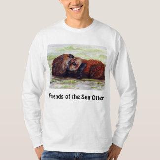 Friends of the Sea Otter Long Sleeve Shirt Mens