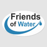 Friends of Water Oval Sticker