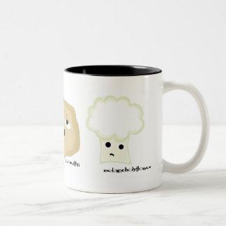 friends on the side dish Two-Tone coffee mug