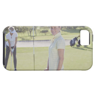 Friends playing golf iPhone 5 cover