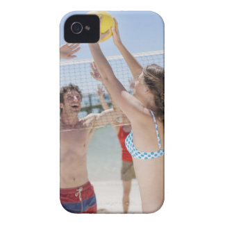 Friends playing volleyball on beach Case-Mate iPhone 4 case