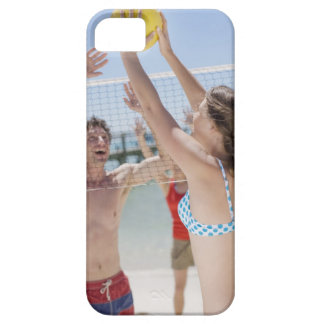 Friends playing volleyball on beach iPhone 5 case