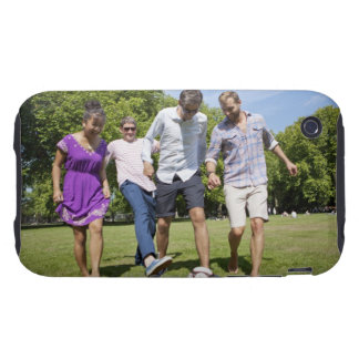 Friends Playing with a Football in a City Park Tough iPhone 3 Cover