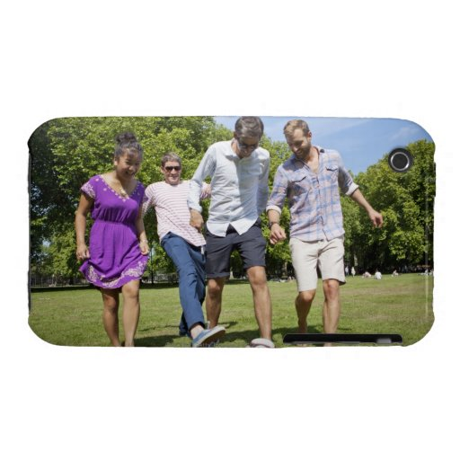 Friends Playing with a Football in a City Park iPhone 3 Case-Mate Case