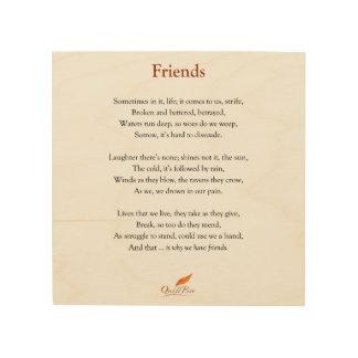 Friends Poem on Wood Photo Print