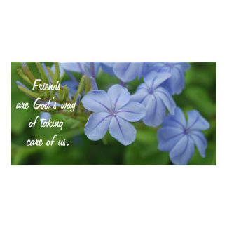 Friends - Purple Flowers Photo Cards