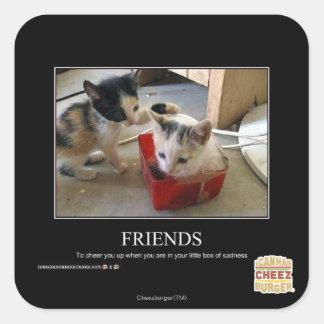 Friends Square Sticker