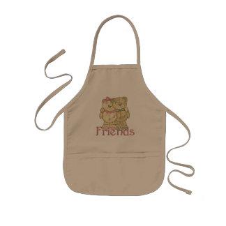 Friends Teddy Bear Pair - Original Colors Kids Apron