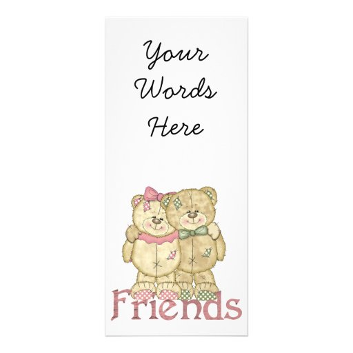 Friends Teddy Bear Pair - Original Colors Personalized Rack Card