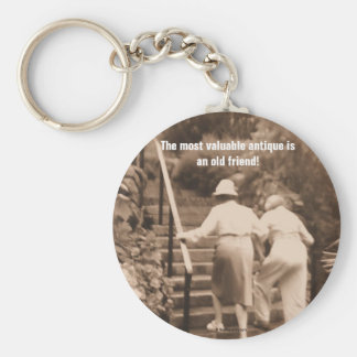 Friends till the End Basic Round Button Key Ring