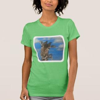Friends- to giraffe and an ostrich. T-Shirt