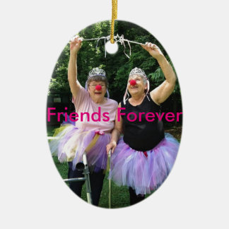 Friends + Tutus = Fun Times Christmas Ornament