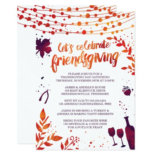 friendsgiving thanksgiving dinner invitation zazzle co uk