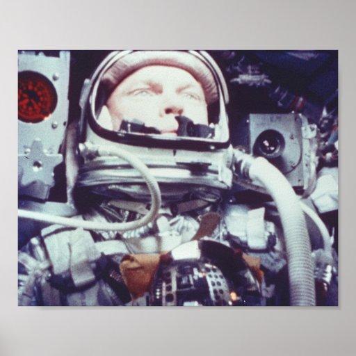 Friendship 7 Astronaut during Spaceflight Poster