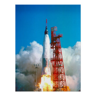 Friendship 7 (Mercury Atlas 6) Launch Poster