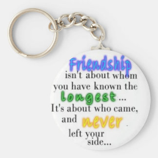 Friendship Basic Round Button Key Ring