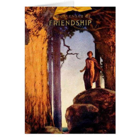 Friendship Calendar - Maxfield Parrish Card