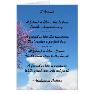 Friendship Cherry Blossom Card