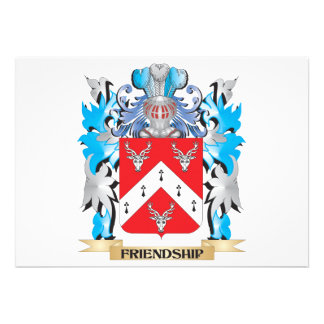 Friendship Coat of Arms - Family Crest Card