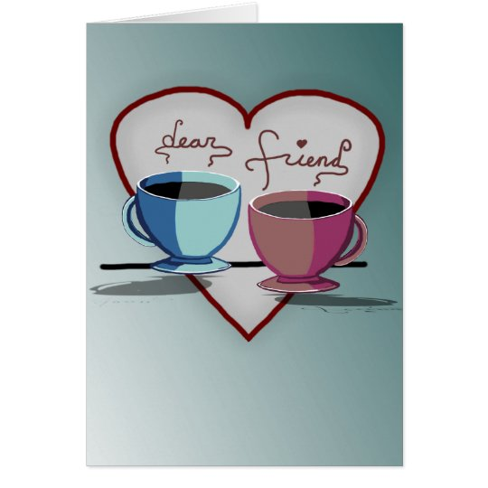 Friendship Coffee Cups Valentine's Day Card