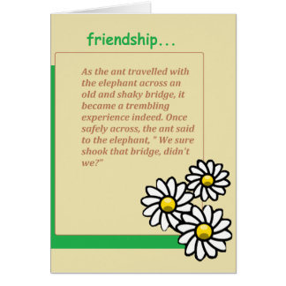 friendship devotional greeting card