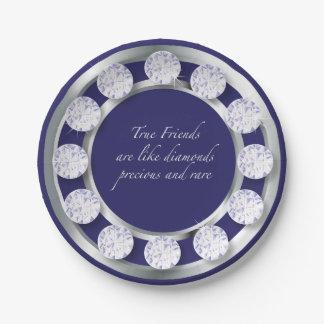 Friendship Diamonds 7 Inch Paper Plate