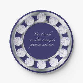 Friendship Diamonds Paper Plate