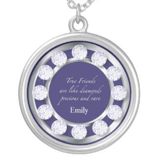 Friendship Diamonds Silver Plated Necklace