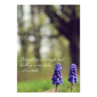 Friendship Flowers Custom Invites
