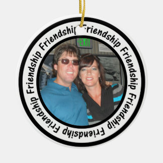 Friendship Frame Circle Add Your Photo Christmas Ornament