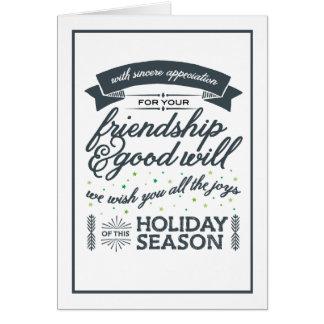 Friendship Grey Card
