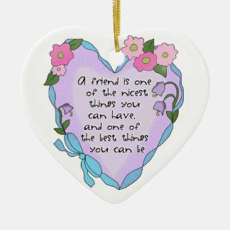 Friendship Heart One Keepsake Ornament