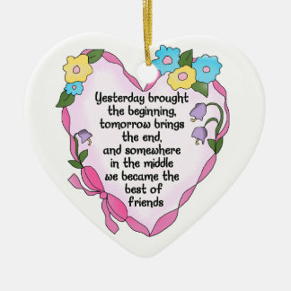 Friendship Heart Three Keepsake Ornament