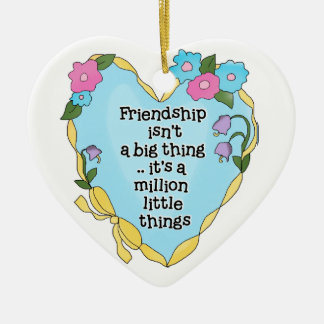 Friendship Heart Two Keepsake Ornament
