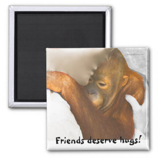 Friendship Hug Square Magnet