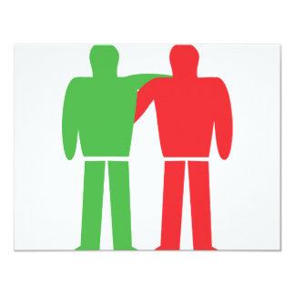 friendship icon personalized invitation