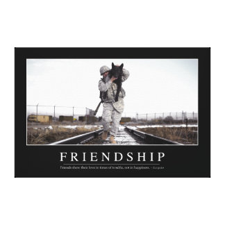 Friendship: Inspirational Quote Canvas Print