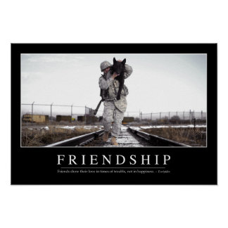 Friendship: Inspirational Quote Poster