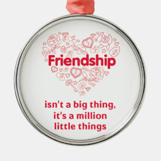 Friendship is a million things cute quote designed christmas ornament